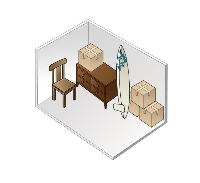 7 X 10 Storage Unit: 5′ X 10′ Walk In Closet 50 Sq Ft Upper Level