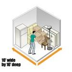 10 x 10 Storage Unit layout