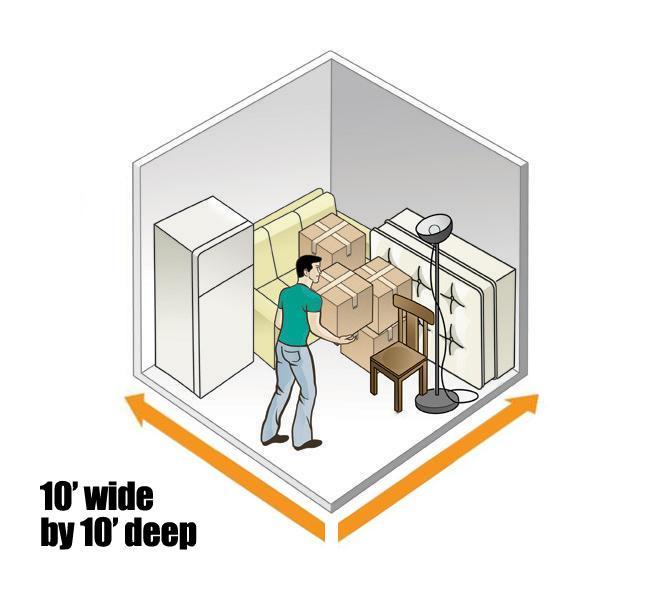 10 X Storage Unit Layout